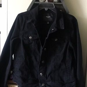 Unisex indigo Black Denim Jacket with pockets